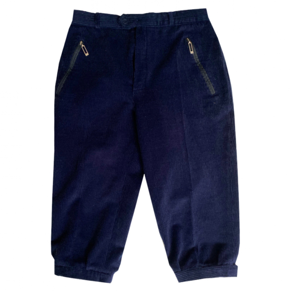 Pre-owned Fusalp Navy Cotton Trousers