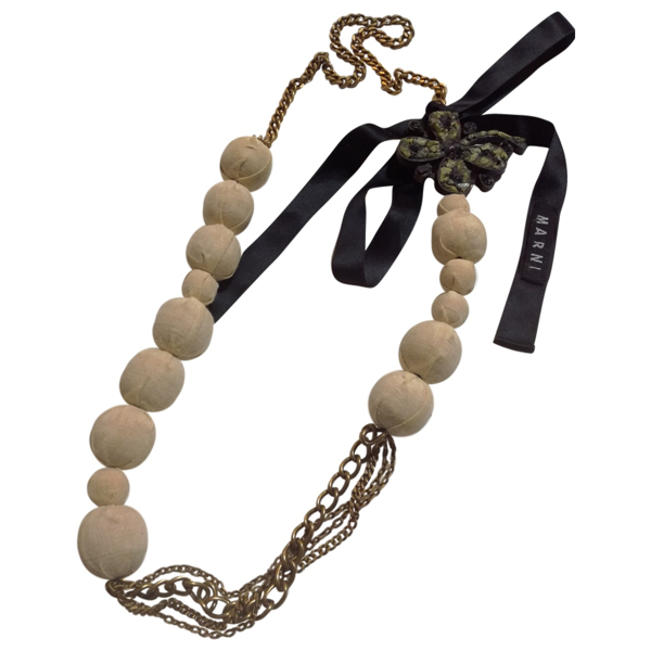 Pre-owned Marni Gold Metal Necklace