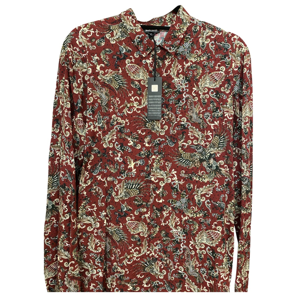 Pre-owned Just Cavalli Red Cotton Shirts
