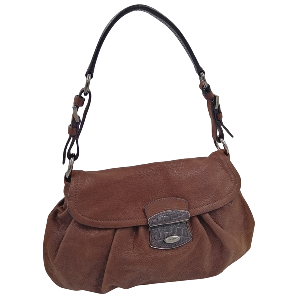 Pre-owned Prada Brown Leather Handbag