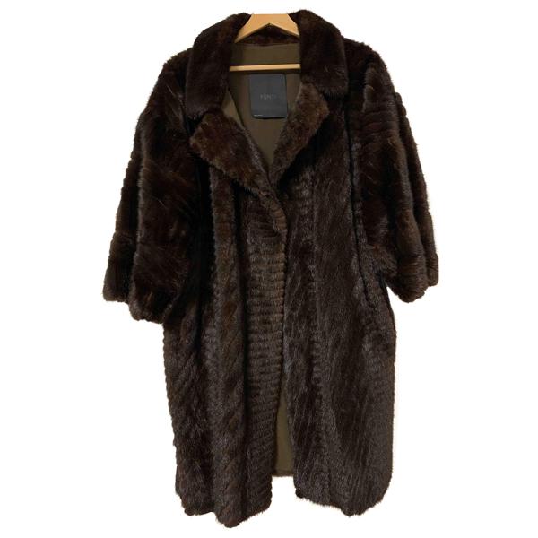 Pre-owned Fendi Brown Mink Coat