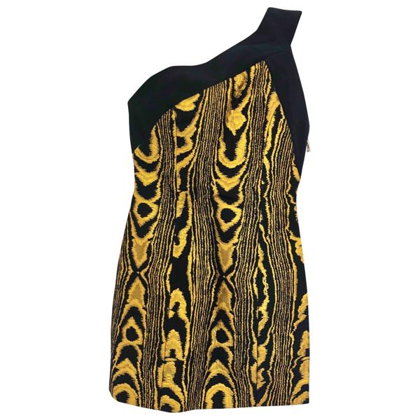 Pre-owned Balmain Yellow Cotton Dress