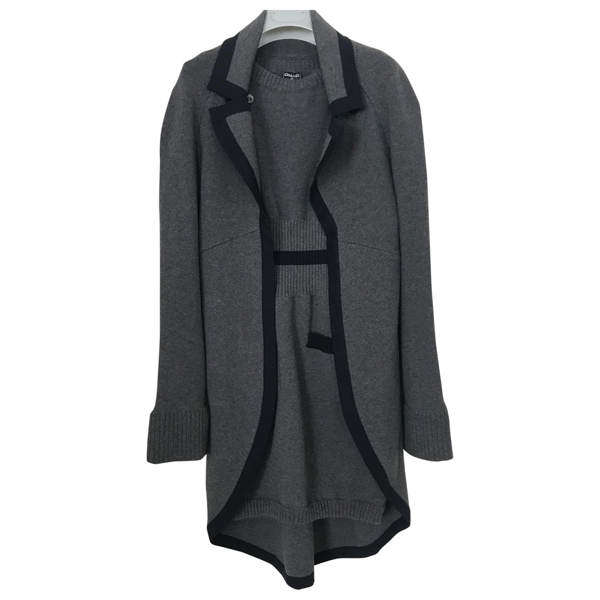 Pre-owned Chanel Grey Wool Dress