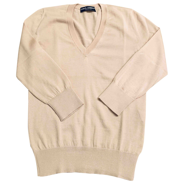 Pre-owned Dolce & Gabbana Pink Cashmere Knitwear
