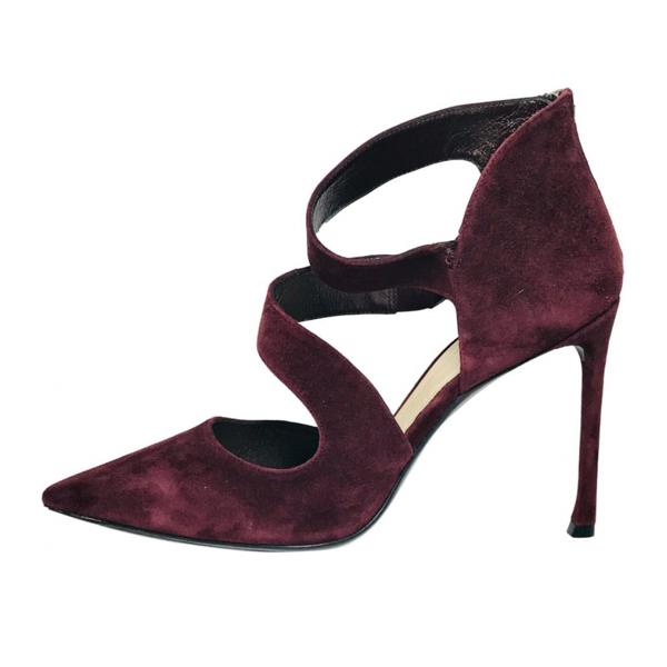 Pre-owned Dior Burgundy Suede Heels