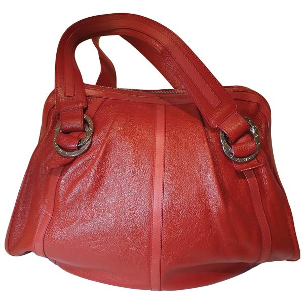 Pre-owned Bulgari Red Leather Handbag