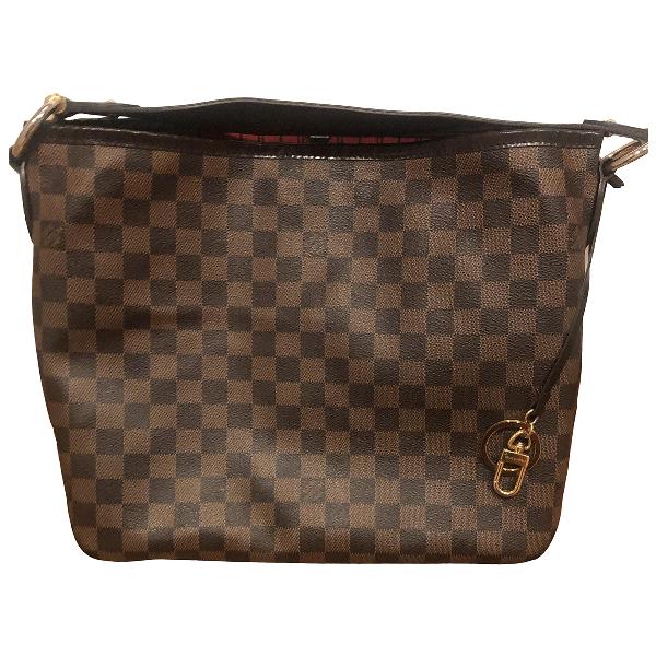 Pre-owned Louis Vuitton Delightful Brown Cloth Handbag