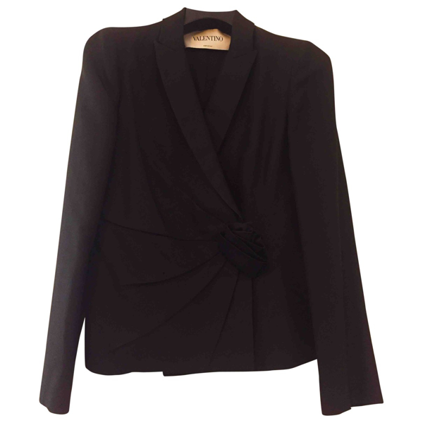 Pre-owned Valentino Black Silk Jacket