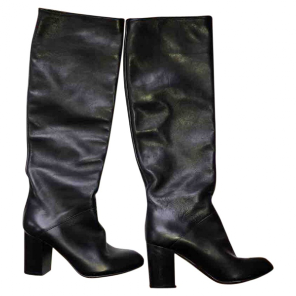 Pre-owned Inga Black Leather Boots
