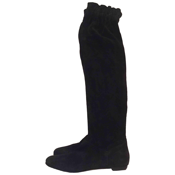 Pre-owned Dolce & Gabbana Black Suede Boots