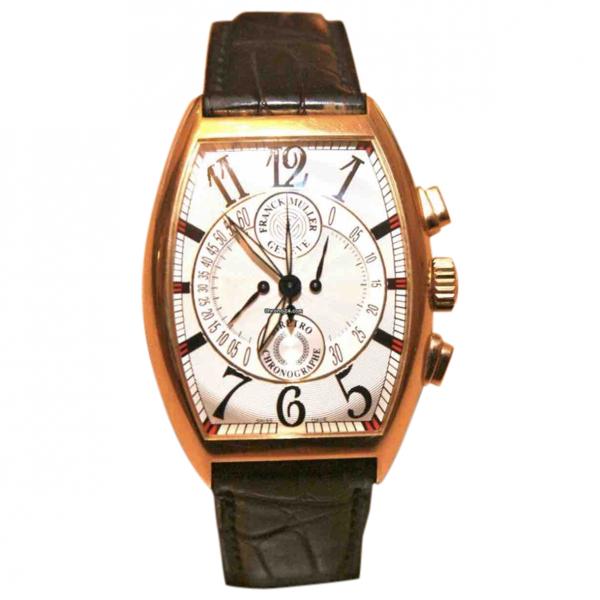 Pre-owned Franck Muller Black Pink Gold Watch