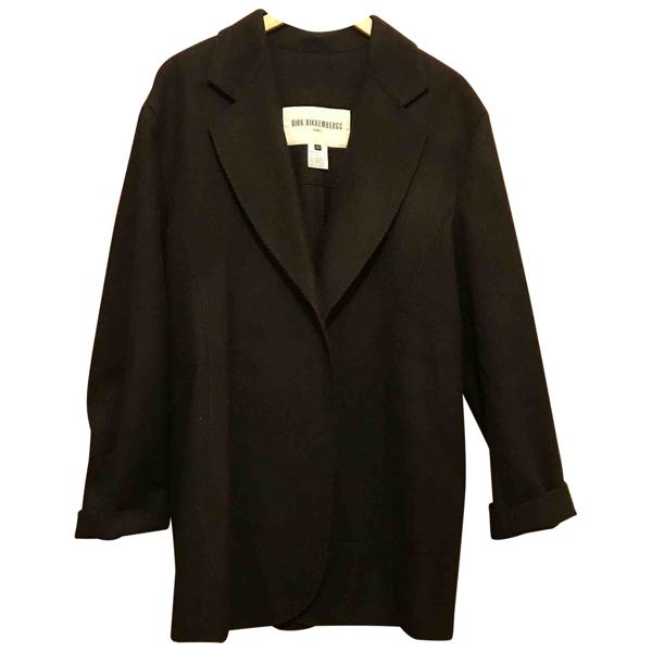 Pre-owned Dirk Bikkembergs Black Wool Coat