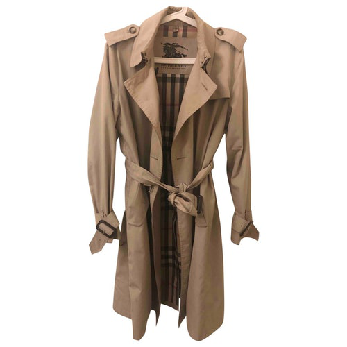 Pre-owned Burberry Beige Cotton Trench Coat