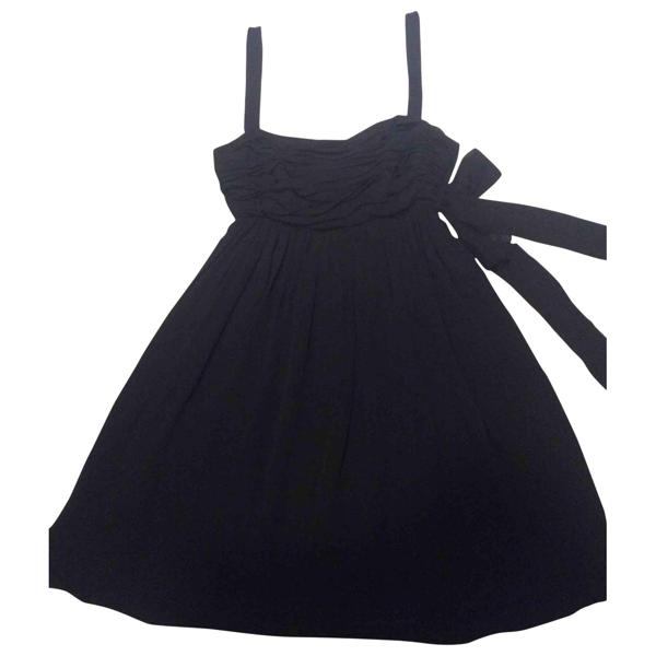 Pre-owned Christian Lacroix Black Silk Dress