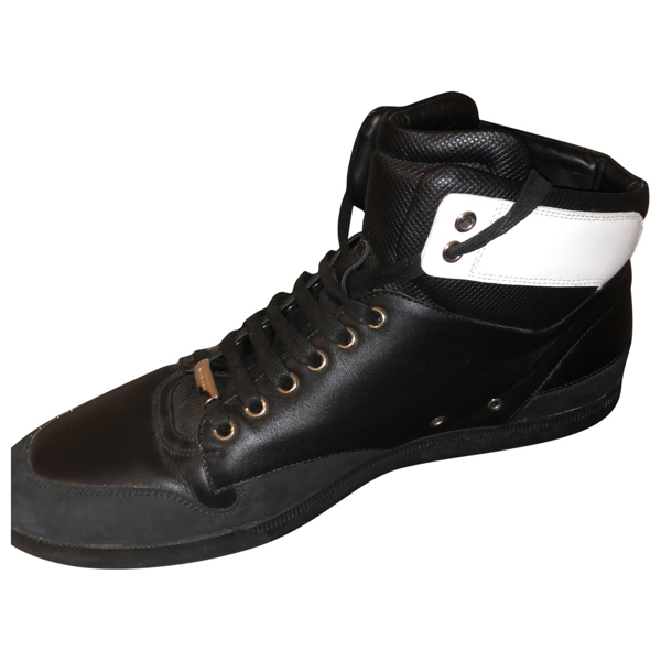 Pre-owned Dior Black Leather Trainers