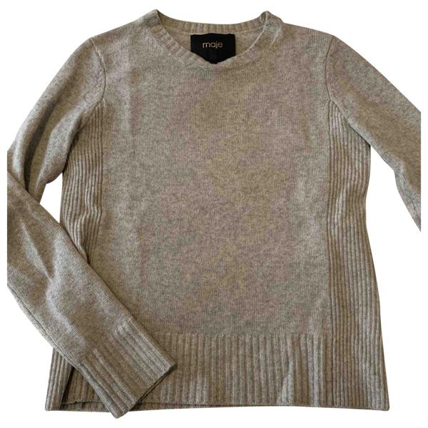 Pre-owned Maje Grey Cashmere Knitwear