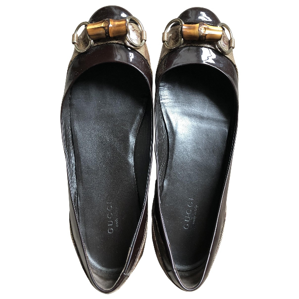 Pre-owned Gucci Patent Leather Ballet Flats