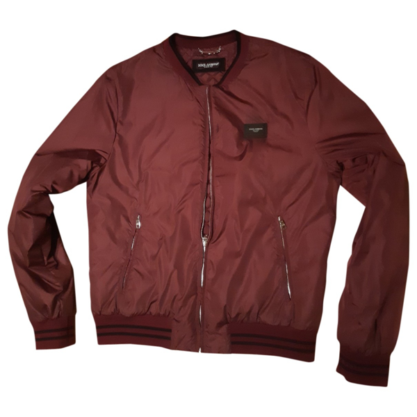 Pre-owned Dolce & Gabbana Burgundy Jacket