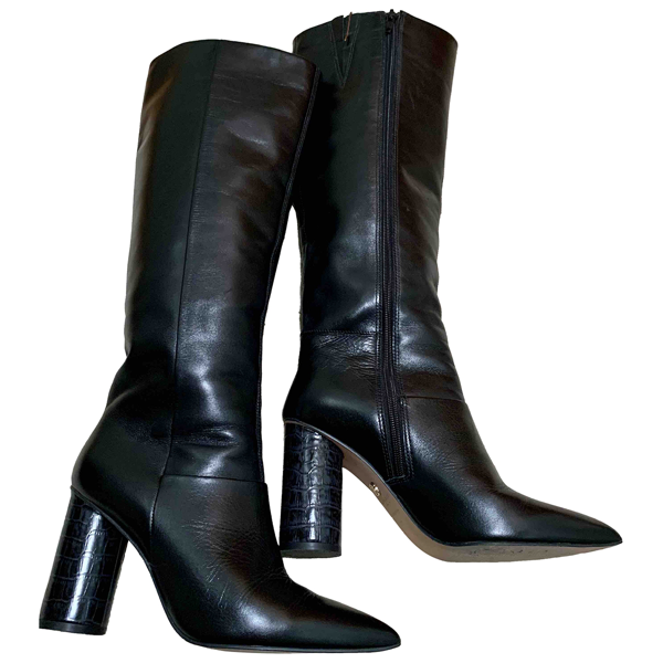Pre-owned Kurt Geiger Black Leather Boots