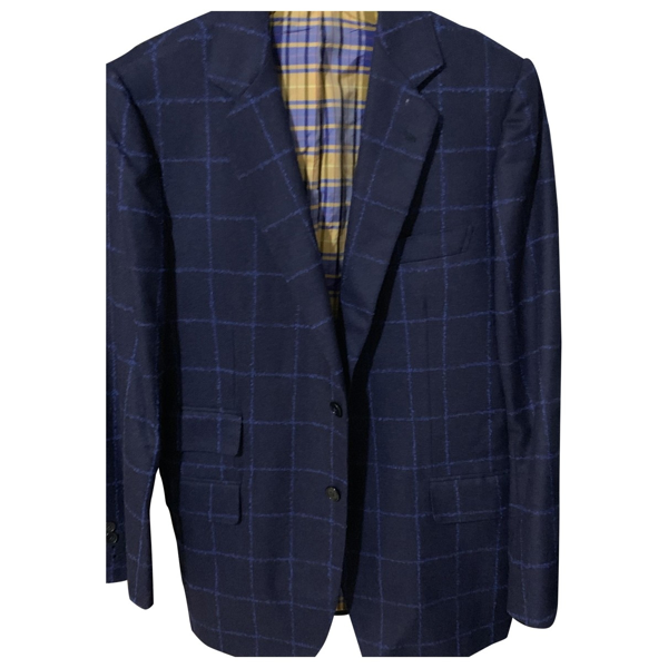 Pre-owned Loro Piana Blue Cashmere Jacket