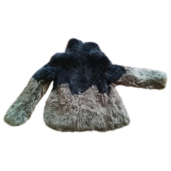 Pre-owned Patrizia Pepe Anthracite Mongolian Lamb Coat