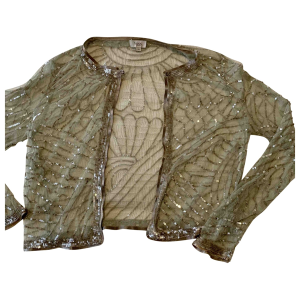 Pre-owned Hoss Intropia Silver Glitter Jacket