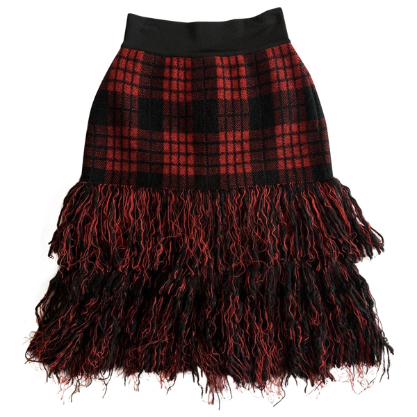 Pre-owned Balmain Multicolour Wool Skirt