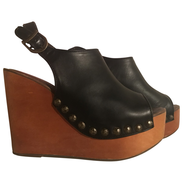 Pre-owned Jeffrey Campbell Black Leather Sandals