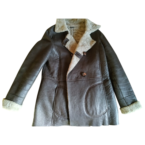 Pre-owned Pablo Brown Leather Coat
