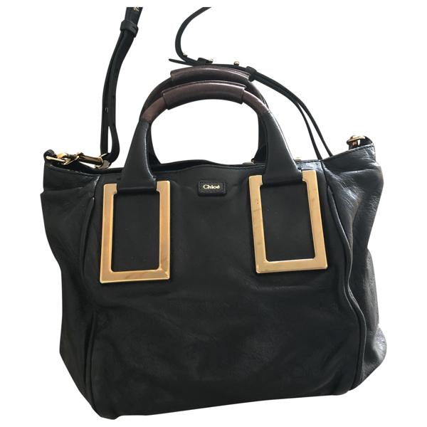 Pre-owned Chloé Ethel Black Leather Handbag