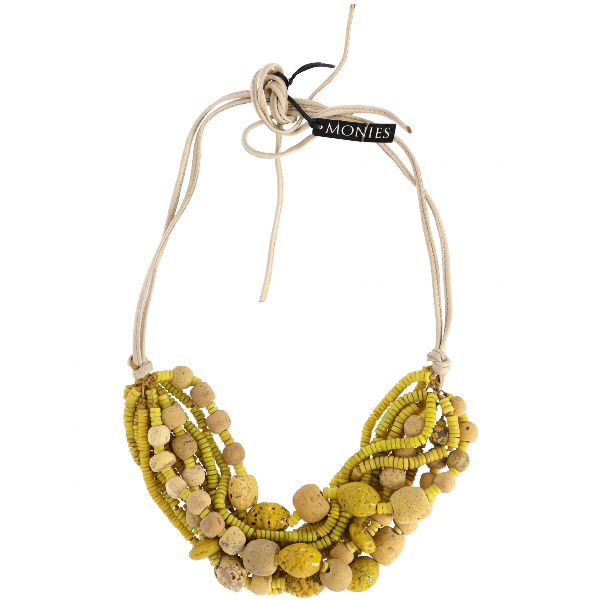 Monies Yellow Pearls Necklace