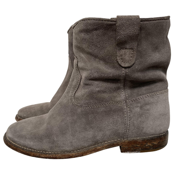 Isabel Marant Crisi  Grey Suede Ankle Boots