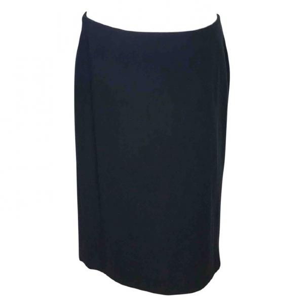 Stephan Janson Black Wool Skirt