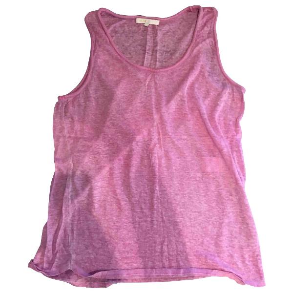 Maje Pink Linen  Top