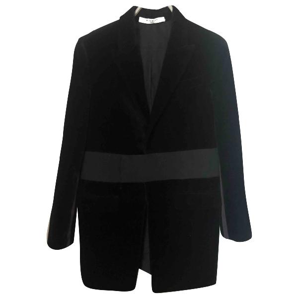 Givenchy Black Velvet Coat