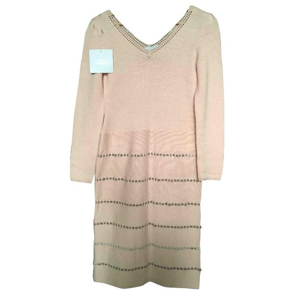Luisa Beccaria Pink Wool Dress