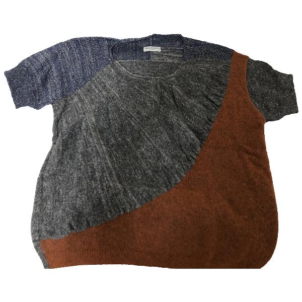 Dries Van Noten Grey Wool Knitwear