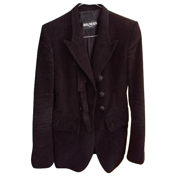 Balmain Black Velvet Jacket