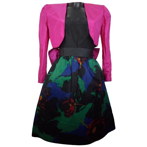 Roberto Capucci Multicolour Silk Dress