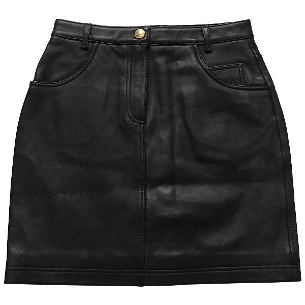 Claudie Pierlot Spring Summer 2019 Black Leather Skirt
