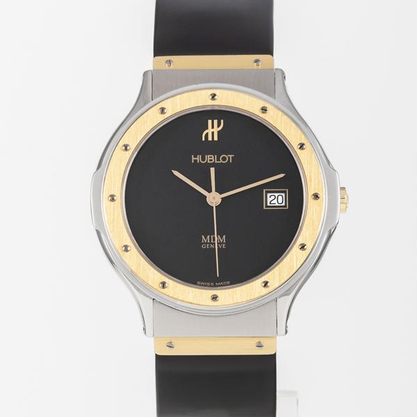 Hublot Mdm Black Gold And Steel Watch