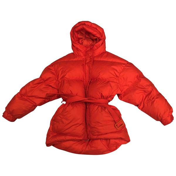 Pre-owned Ienki Ienki Red Cotton Coat