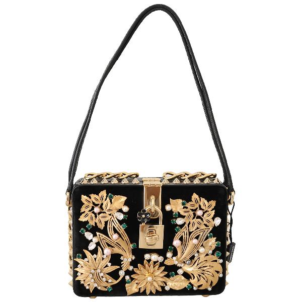 Dolce & Gabbana Black Velvet Handbag