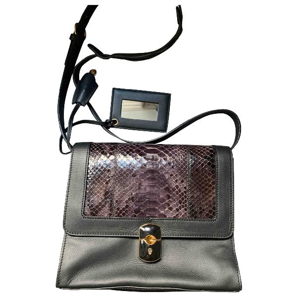 Balenciaga Padlock Black Leather Handbag