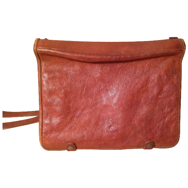 Il Bisonte Brown Leather Clutch Bag