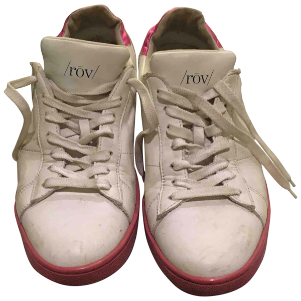 Pre-owned Rov White Leather Trainers