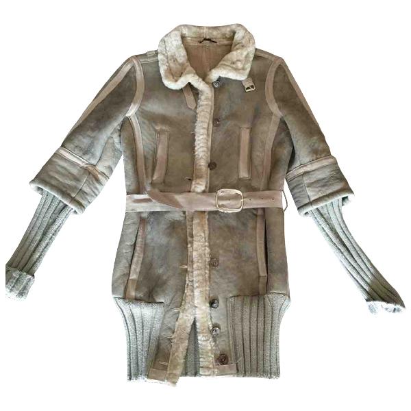 Daniele Alessandrini Grey Leather Leather Jacket