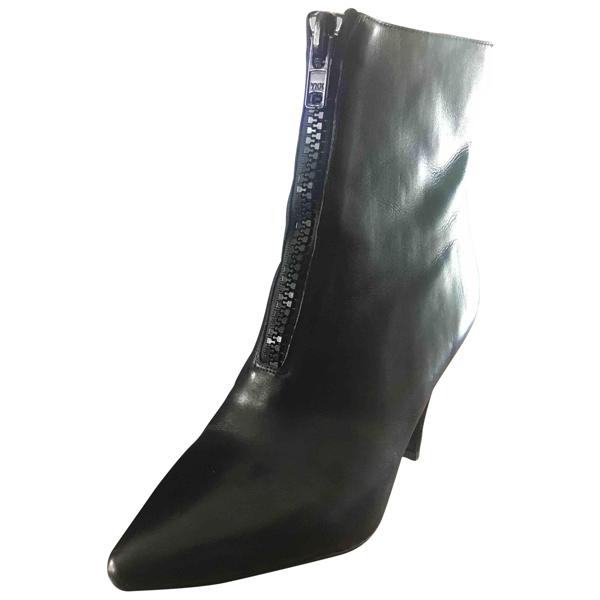 Tiger Of Sweden Black Leather Ankle Boots