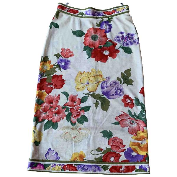Leonard Ecru Wool Skirt