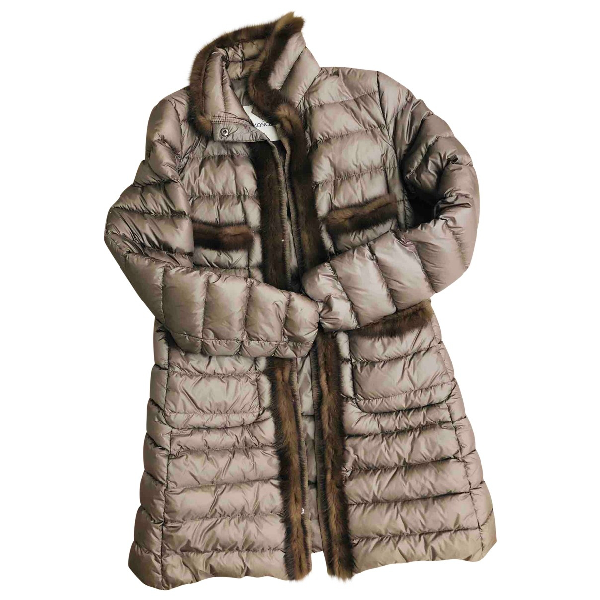 Moncler Long Brown Coat